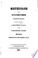 Материалы для статистики Российской Империи